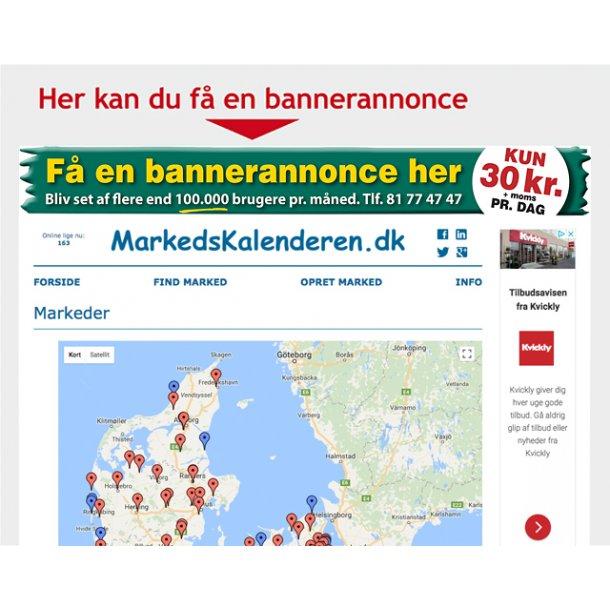 Bannerannonce på markedskalenderen.dk