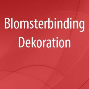 Blomsterbinding - Dekoration